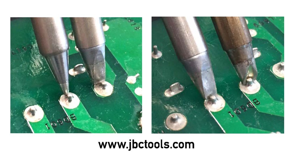 JBC Tools tip size adn correct soldering tip temperatures