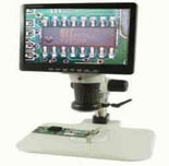 HEIScope microscopes, video inspection, video cameras, microscope stands, e-arms and accessories.